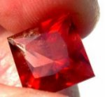 faceted blood red oregon sunstone