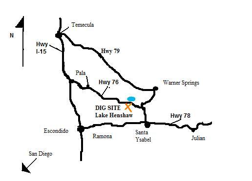 Tourmaline Dig Map